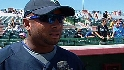 Balentien is working on offense