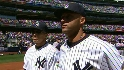 Yankees introduced at Stadium