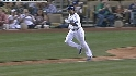 Belliard's strong throw home