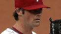 Hamels gets his first win