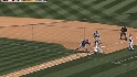 Figgins' go-ahead sac bunt