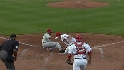 Lannan&#039;s play at the plate