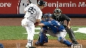Teixeira gets hit by a pitch