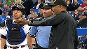 Fan interference on Abreu's hit
