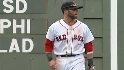 Pedroia flashes leather