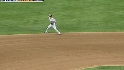 Scutaro spins to get the out