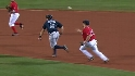 Youkilis starts the double play