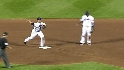 Livan induces a double play