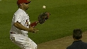 Pujols' catch in foul ground