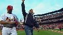 First Fan throws out first pitch