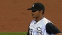 Chacin strikes out two in debut