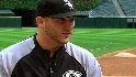 Buehrle chats with Costas