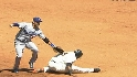 Sandoval avoids the tag