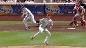 Happ's behind-the-back stop