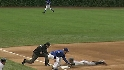 Morgan injured stealing third