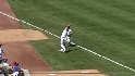 Theriot's catch in foul ground