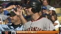 Posey&#039;s first career hit