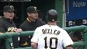 Bixler scores on wild pitch