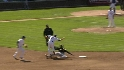 Theriot taken out by slide