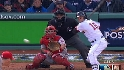 LAA@BOS Gm 3: Pedroia's double scores two in third