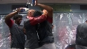 Angels celebrate their ALDS win