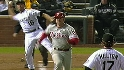 A look at Utley's close call