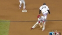 PHI@COL Gm 4: Fowler hurdles Utley to reach second