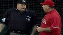 Scioscia has a chat with the ump