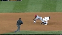 Aybar tosses to second