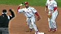 Phils turn unusual double play