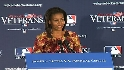 First lady welcomes back vets