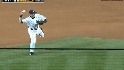 Jeter's strong throw