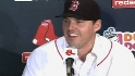 John Lackey talks to press after signing with Boston