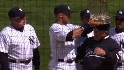 Yogi, Jeter with Series trophy