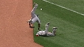 Ellsbury and Beltre collide