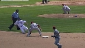 Snyder nails Blake at second