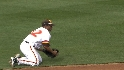 Hairston's diving play