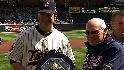 Mauer presented AL MVP award