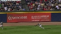 Fowler runs down fly ball