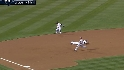 Hairston makes the putout