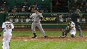 Mark Teixeira called out on strikes.