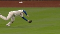 Bay's tumbling catch