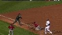Pierzynski&#039;s strong throw