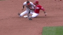 Wieters' barehanded play
