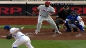 Dickey hit by liner