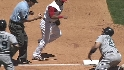 Abreu's strong throw