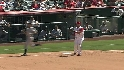 Aybar's strong throw
