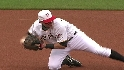 LaRoche's strong throw