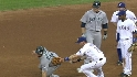 Johnson cut down at third