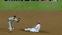 Whiteside starts a double play